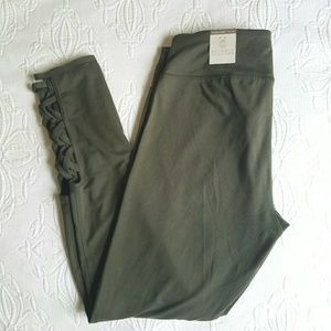 NWT yoga or workout leggings with cut outs